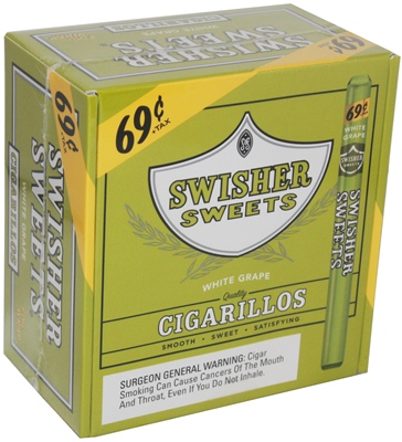 Swisher Sweet Cigarillos Single $0 69 Prices 60/Unit White